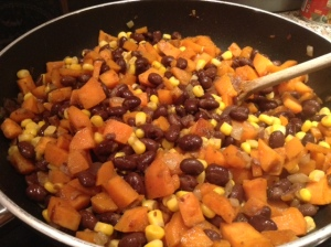 sweet potato, black bean and corn